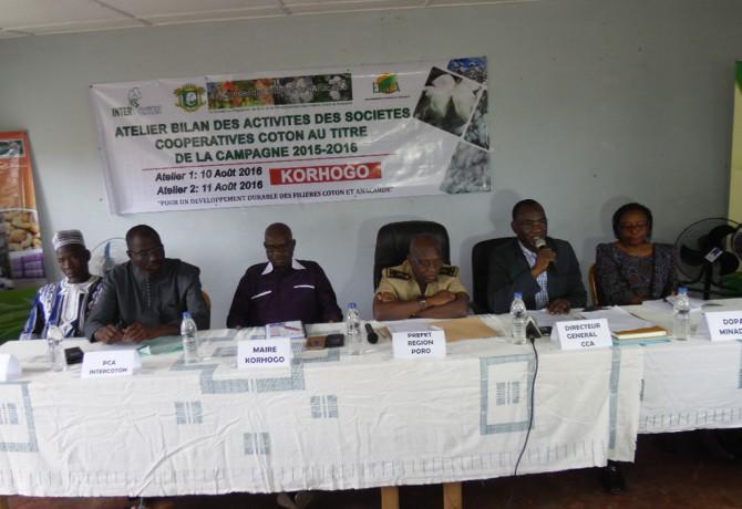 atelier bilan des activités des sociétés coopératives cotonnières au titre de la campagne 2015-2016 Korhogo