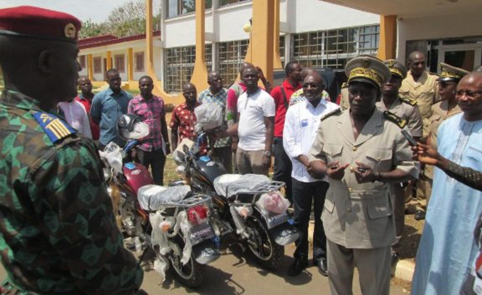 BONDOUKOU : Le Conseil du coton et l'anacarde renforce la capacité opérationnelle des forces de sécurité