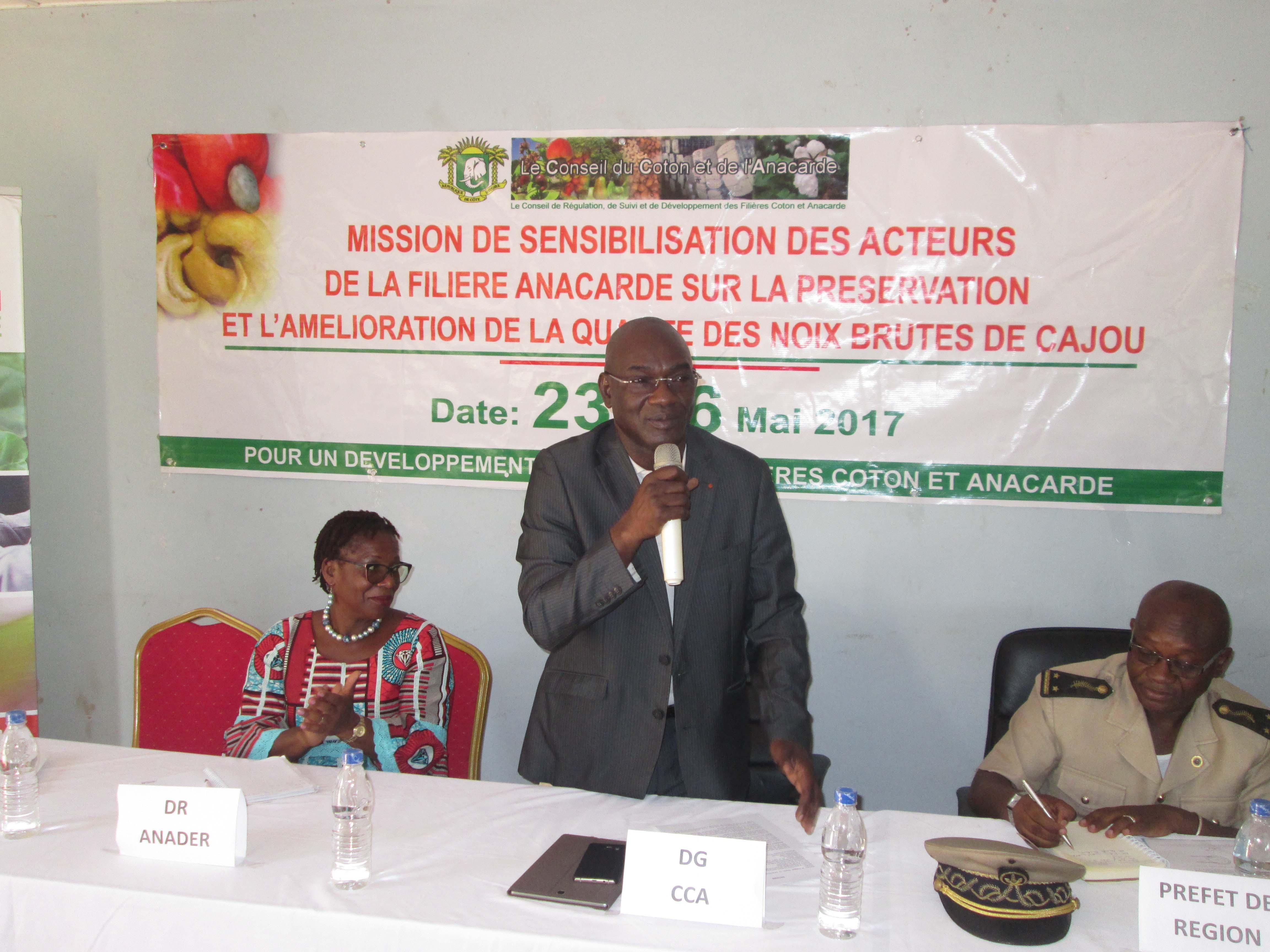 La qualité est l'avenir de la filière cajou (Dr Adama Coulibaly, DG CCA)