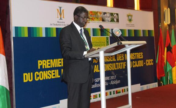 Florentino Nanque, président de l'Alliance africaine du cajou (ACA)