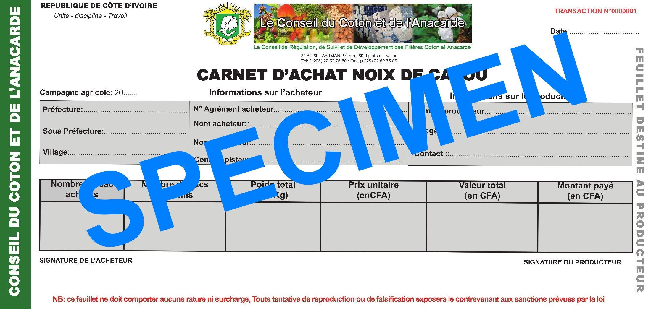 COMMUNIQUE DE PRESSE Relatif au Carnet d'Apport Produit